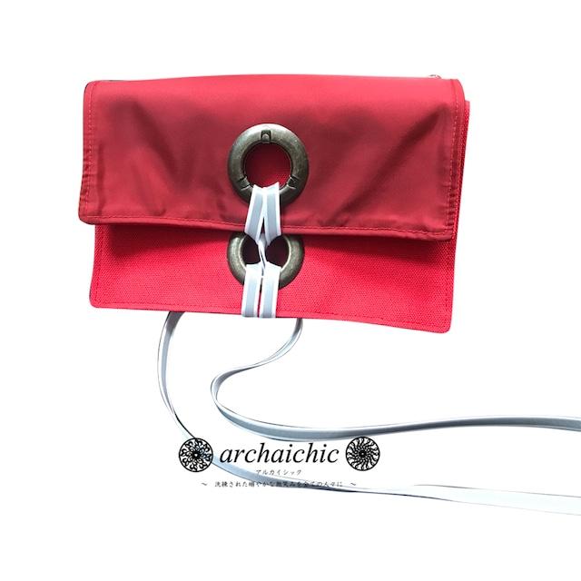 T・U・N・A・G・M・U 2Way Bag in Bag / Solide – Réticule 紅絹