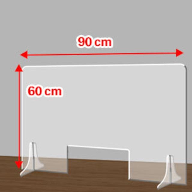 はめ込み型アクリルパーテーションL (透明)