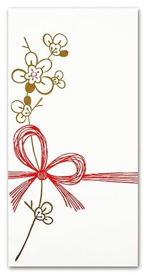 シイング ぽち袋(長) お祝いの金の花