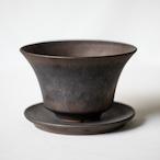 Wide Cylinder Pot(黒錆)