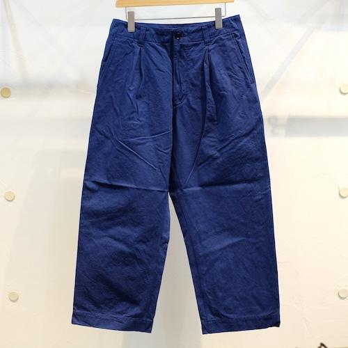 KUON(クオン) ファナージュコットン ワイドパンツ ブルー