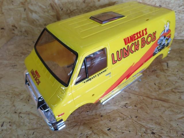 ランチボックス XB用 黄色樹脂成形 塗装完成済みボディ クリアパーツ装着済み