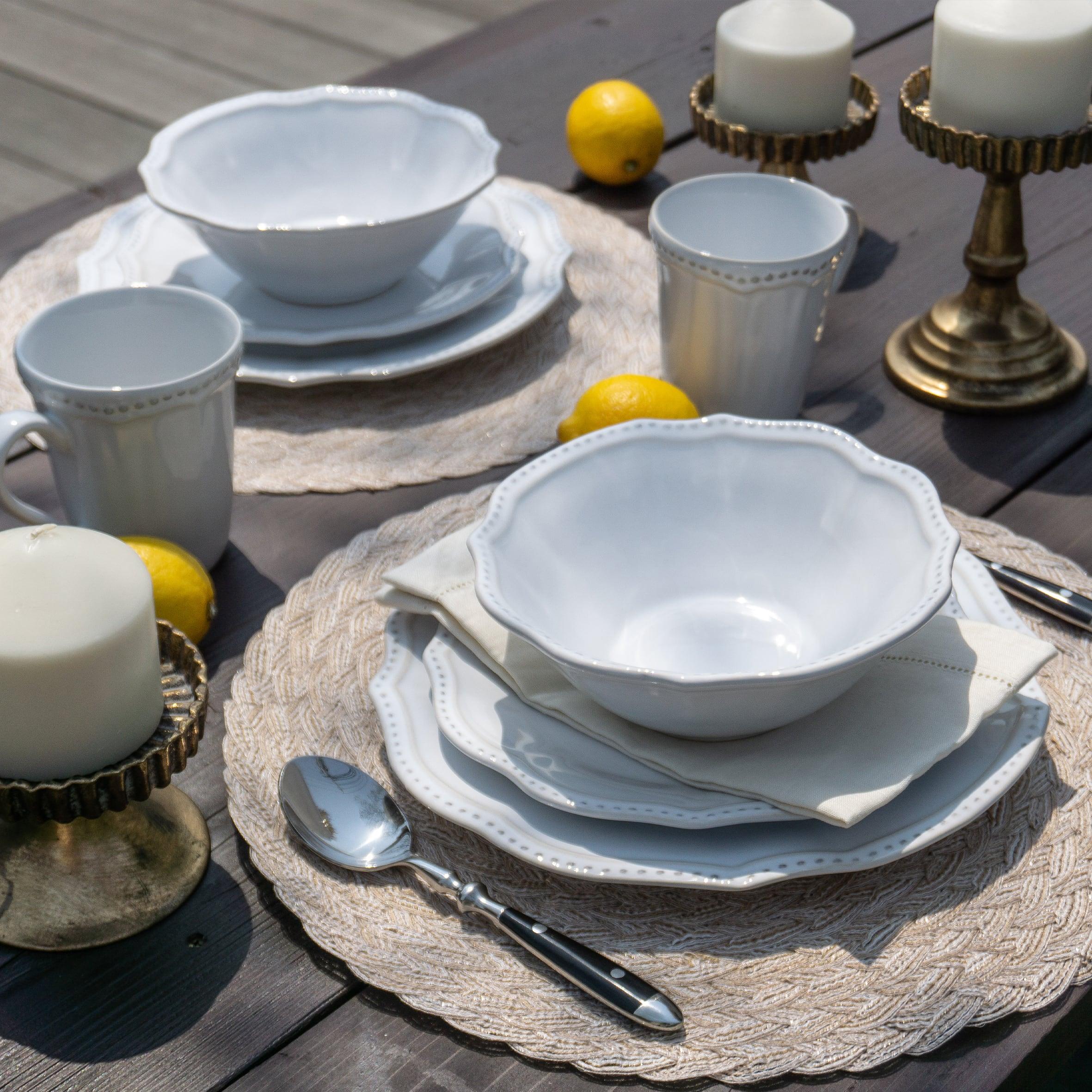 ホワイト レイラディナープレート(Leila Dinner Plate)