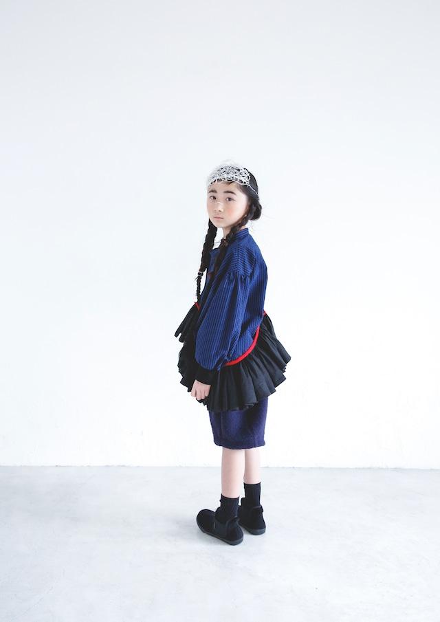 【21AW】ミチリコ(michirico) Stripe Shirts blue【S・M】シャツ