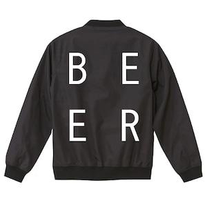 BEER スタジアムジャケット ブラック