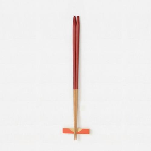 細身角箸(赤) 【45-030】