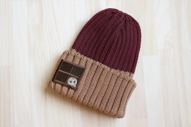 刺繍ニット帽『やねうら暮らし』