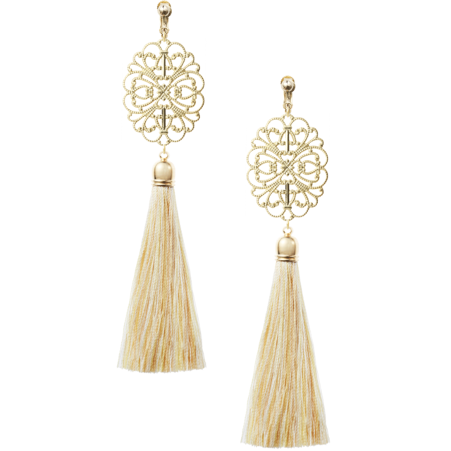 Camel Tassel Earrings