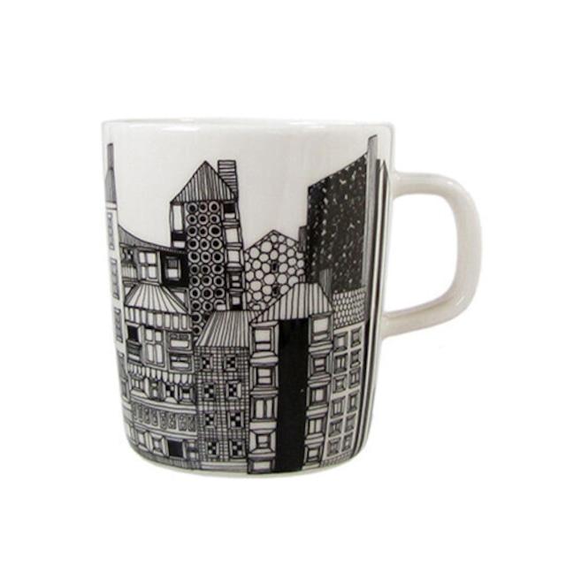 マリメッコ(marimekko)マグカップ/シイルトラプータルハ 街並 250ml /浜松雑貨屋 C0pernicus