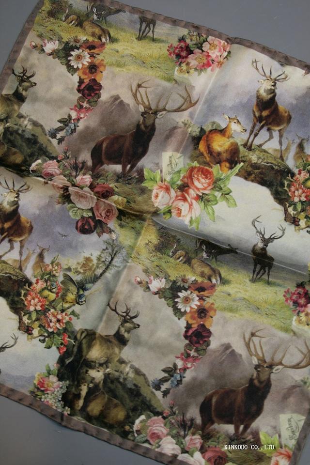 スカーフのようなプリントのチーム イタリア老舗ネクタイメーカーALBENIアルベニ社製