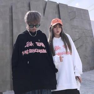 【トップス】カップルルーズファッションフード付きパーカー52258631