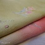 正絹 ウォーターメロン色にスワトウの帯揚げ