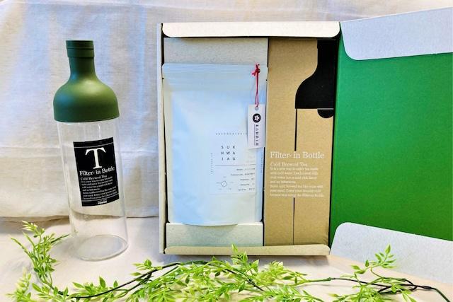 【ギフト/送料無料/詰め合わせ】フィルター・イン・ボトルと青ほうじ茶の詰め合わせギフトセット