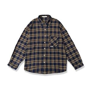 フランネルチェックシャツ  ネルシャツ シャツ チェック 秋服 オーバーサイズ