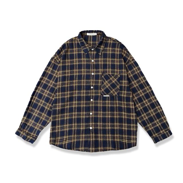 フランネルチェックシャツ |ネルシャツ シャツ チェック 秋服 オーバーサイズ