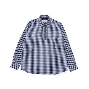 Gingham Pullover Shirt(navy)