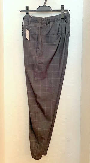 Window Pane Pattern Tapered & Easy Design Pants M.Charcoal