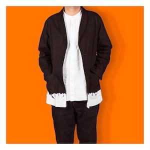 <OSOCU>Denim jacket with black & white-hem