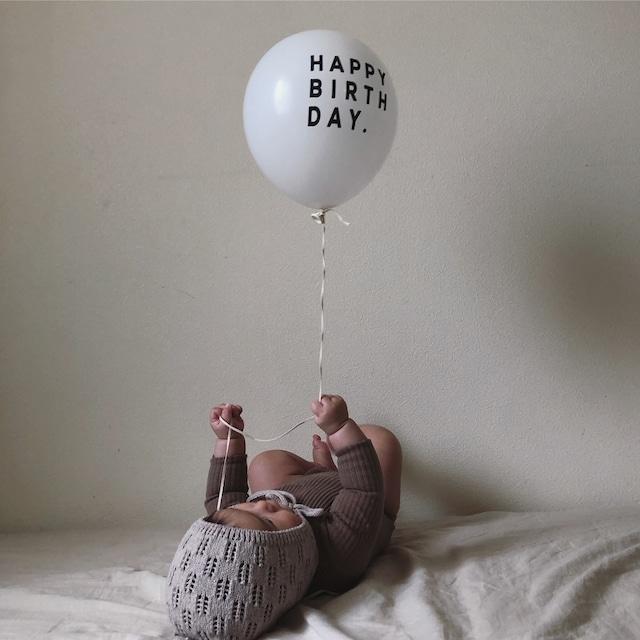 """【即納】""""HAPPY BIRTH DAY"""" Balloon 5pacs (バルーン/ホワイト )UNICOM:TB001"""