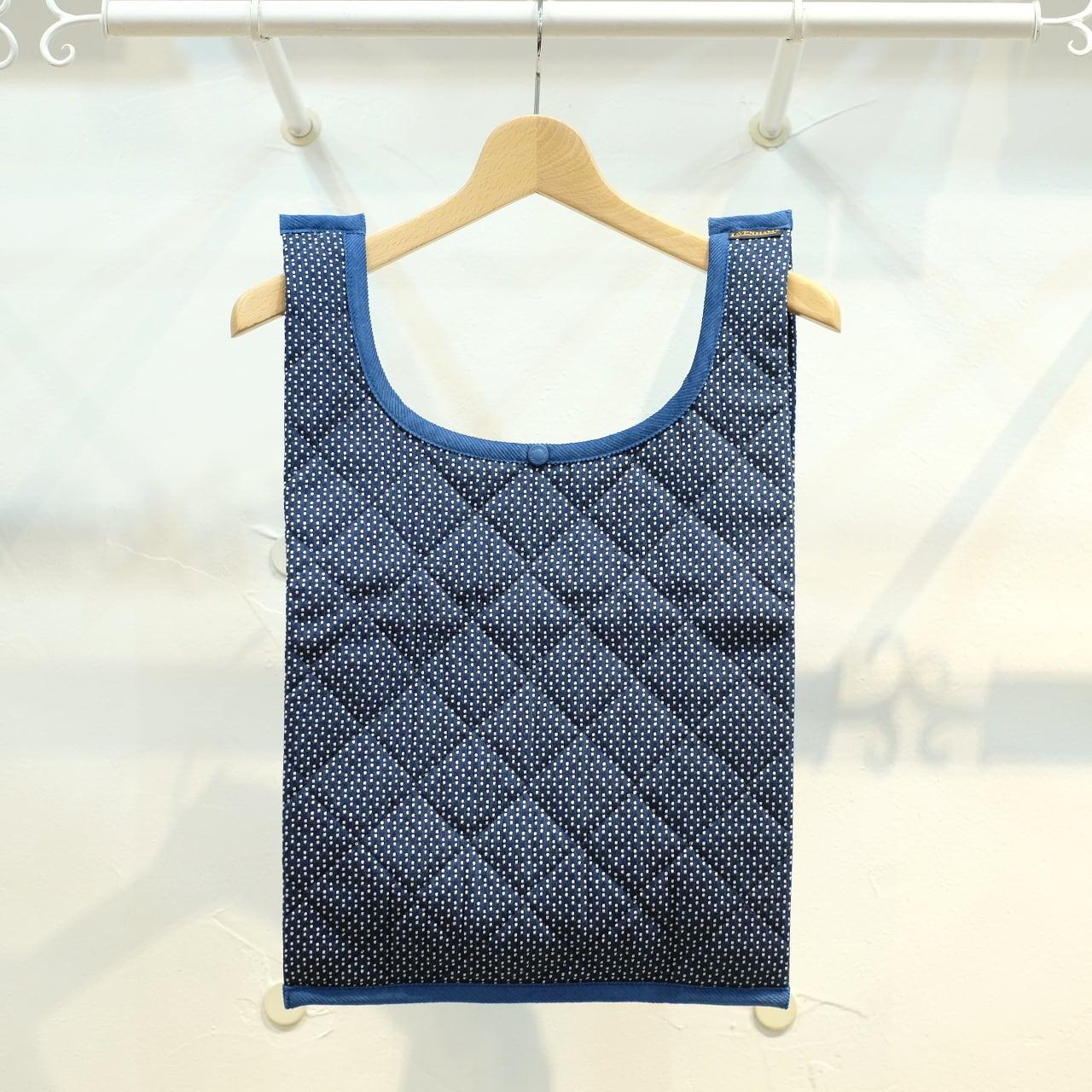KUON(クオン)×LAVENHAM(ラベンハム) 藍染刺し子キルティングマルシェバッグ(KELSALE)