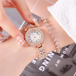 エレガント 一目惚れ 美感いっぱい レディース ブレスレット 腕時計<ins-2349>