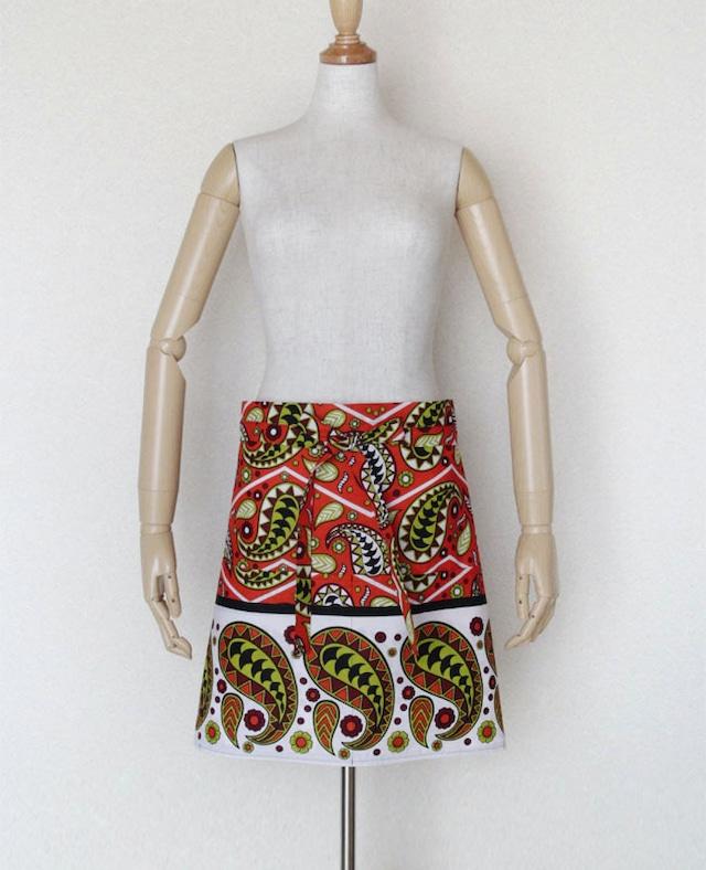 カンガのカフェエプロン|エプロン / アフリカ布