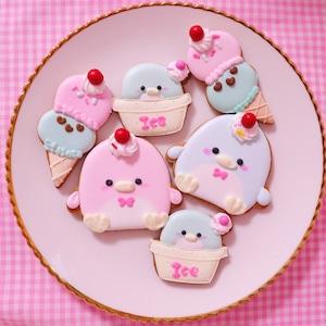 ペンギンアイスちゃんのアイシングクッキー♡