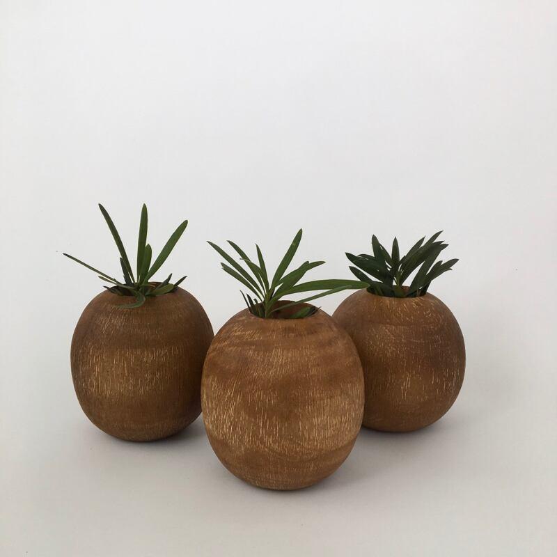 Mango Wood Scratch Vase|マンゴーウッド スクラッチ ベース
