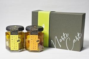 オリジナルギフト箱入:【醸(かもし)セット】チーズのオイル漬2種ギフトセット