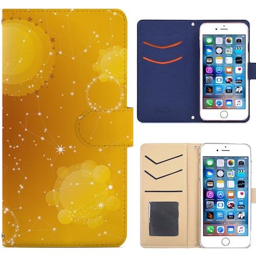 Jenny Desse iPhone XS MAX ケース 手帳型 カバー スタンド機能 カードホルダー イエロー(ホワイトバック)