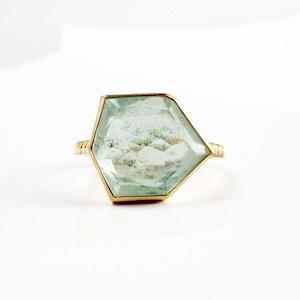 Moss Aquamarine Ring(CR012-MAQ)