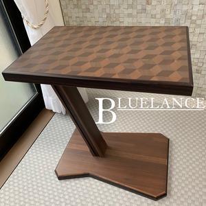 3Dキューブデザイン・ウッドテーブル