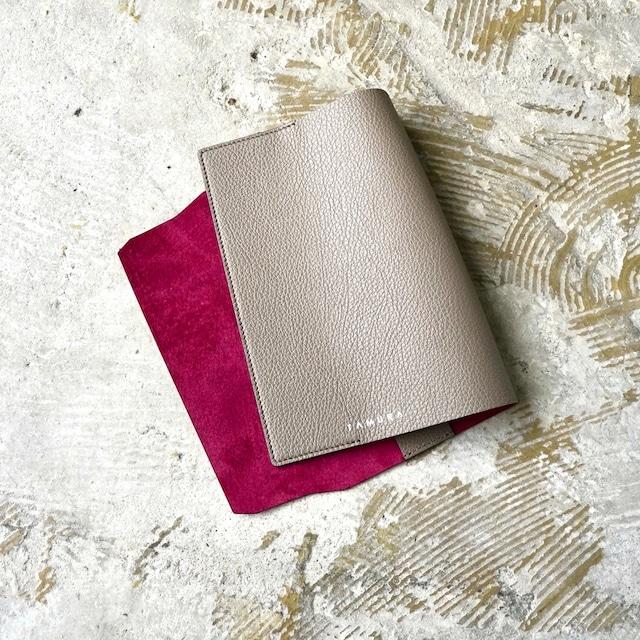 BOOK COVER(新書サイズ)グレージュ × ルージュ