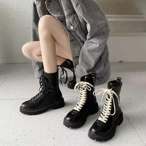 【シューズファッションシンプルテープ合わせやすいブーツ52797856