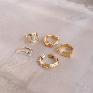 SET RINGS || 【通常商品】 PRIMAVERA GOLD RING SET B || 5 RINGS || GOLD || FBB002