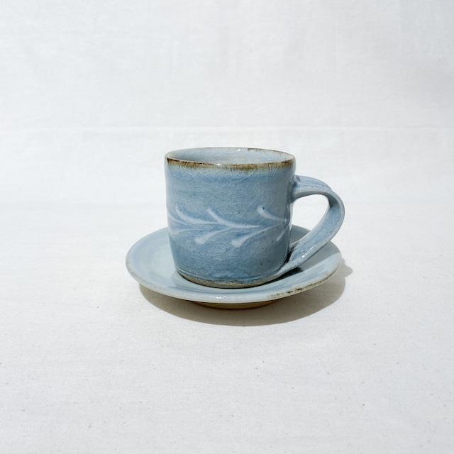 中嶋窯 カップ&ソーサー|呉須釉
