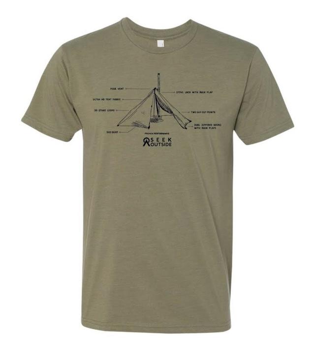 シークアウトサイド アナトミーTシャツ/Seek Outside Anatomy T-Shirt