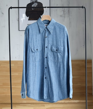 VINTAGE 80s BIG MIKE WESTERN CHAMBRAY SHIRT