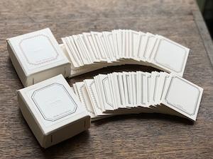 【活版印刷】 FRAME mini card box  Bronze / Black(6種5枚ずつ 30枚入り)