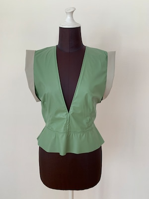 New!! Eco leather Band shoulder gilet /Mint (2021 New collection)