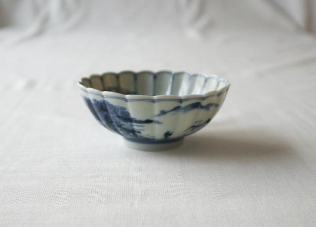 ■山本長左  :  小紋山水双輪文 小鉢