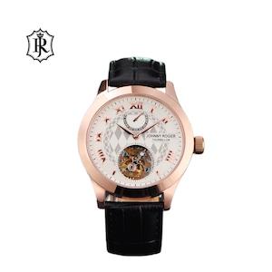 JOHNNYROGER メンズ 腕時計 フライングトゥールビヨン Tourbillon Marchand