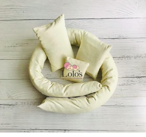 お手入れ簡単。ポージングサポート枕/4点set