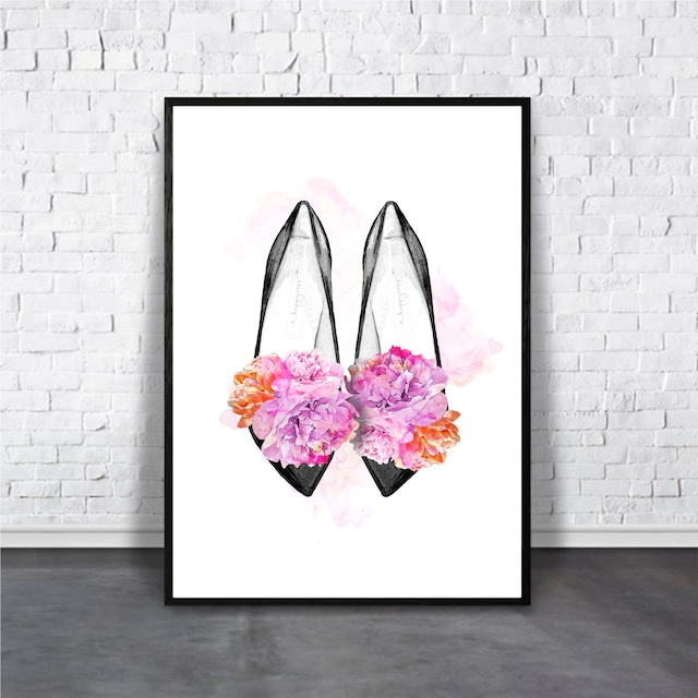 Cute shoes / 【アートポスター専門店 Aroma of Paris】[AP-000292]