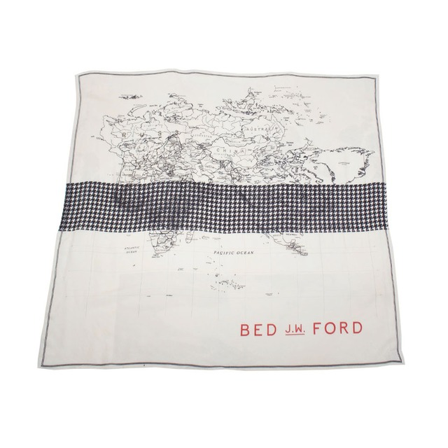 BED J.W. FORD Map scarf