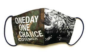 【COTEMER マスク 日本製】 ONE DAY ONE CHANCE MILITARY × PRINT MASK o-wp05