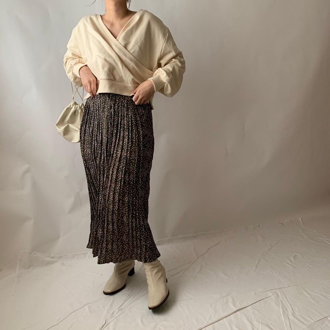 【asyu】rétro pleats skirt