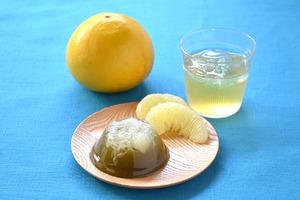 Sawatari Sweets - 沢渡茶と土佐文旦のゼリー
