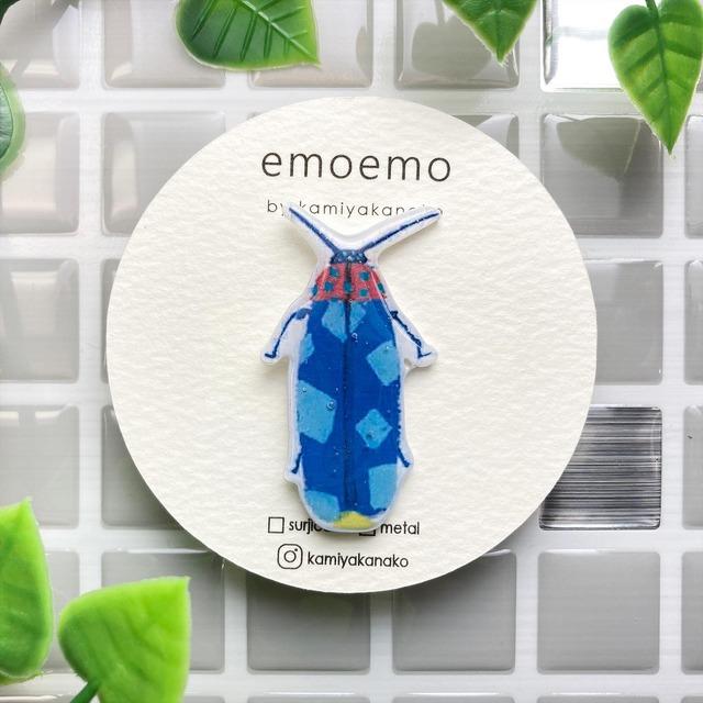 emoemoブローチ ほたる レジン EMA005