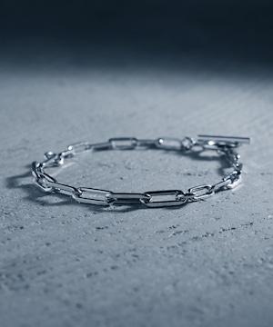 Y2010KHB0909【YArKA/ヤーカ】silver925 long oval chain bracelet [LVO]/オーバルチェーンミックスブレスレット シルバー925